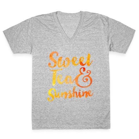 Sweet Tea & Sunshine V-Neck Tee Shirt