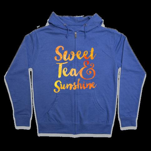 Sweet Tea & Sunshine Zip Hoodie