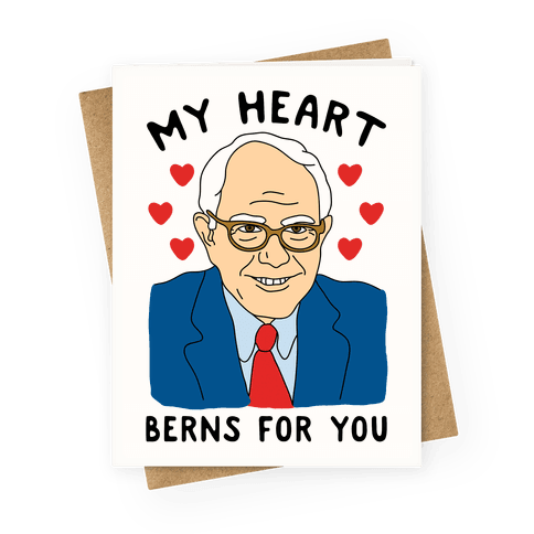 My Heart Berns For Sanders Greetingcard
