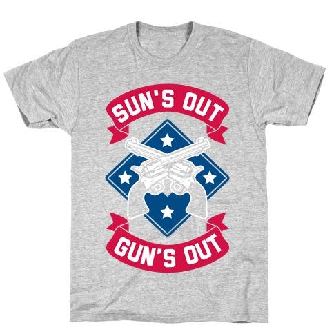 Sun's Out Gun's Out (Merica) T-Shirt