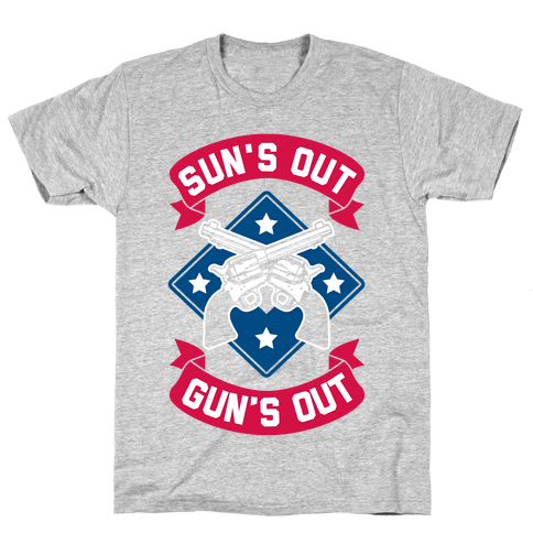 Sun's Out Gun's Out (Merica) Mens T-Shirt