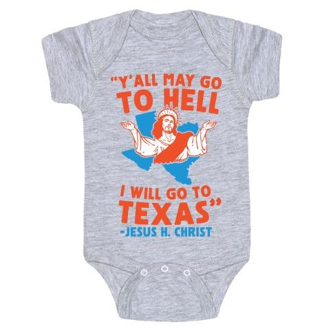 Texas Jesus Baby Onesy