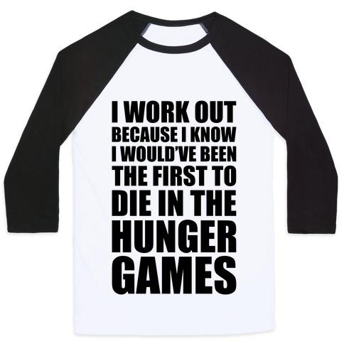 Hunger Games Workout Baseball Tee