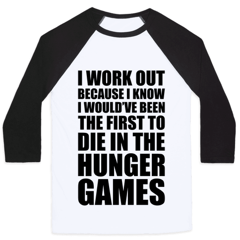 Hunger Games Workout Baseball Tee