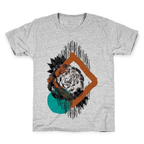 Succulent Abstract Collage Kids T-Shirt