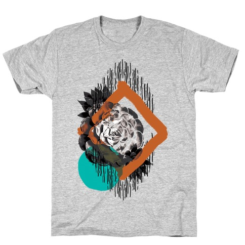 Succulent Abstract Collage T-Shirt