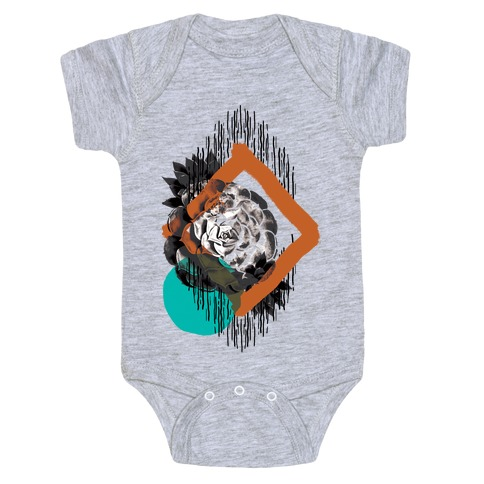 Succulent Abstract Collage Baby Onesy