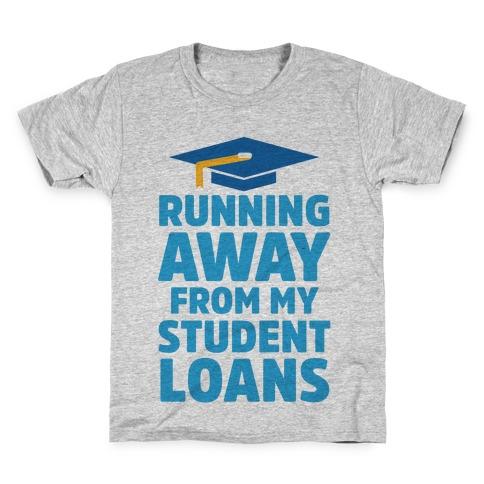 Running Away From My Student Loans Kids T-Shirt