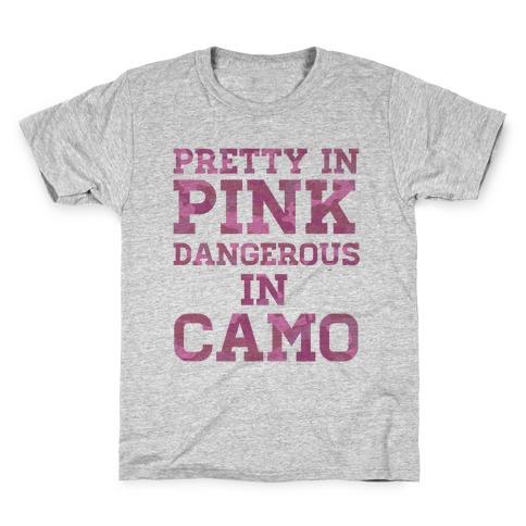 Dangerous in Camo Kids T-Shirt