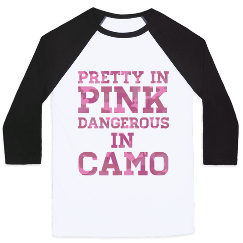 Dangerous in Camo Baseball Tee