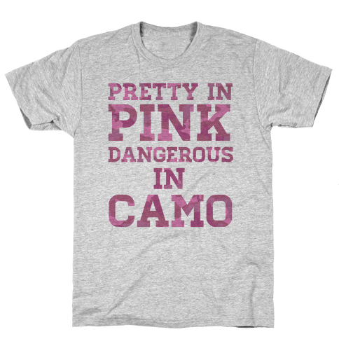 Dangerous in Camo Mens T-Shirt