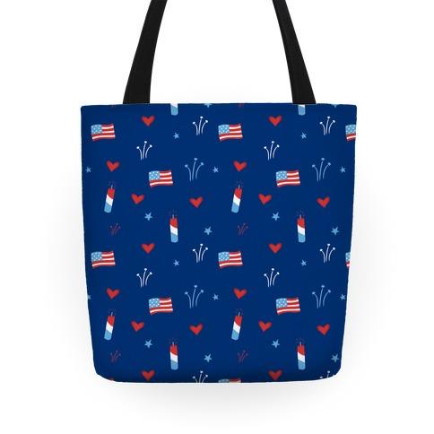 American Pride Pattern (Blue) Tote