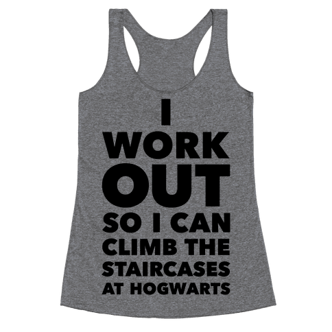 I Work Out Racerback Tank Top