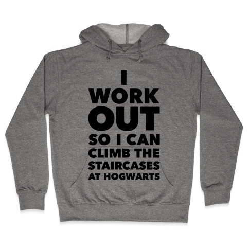 I Work Out Hooded Sweatshirt