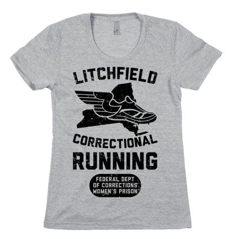 Litchfield Correctional Running Womens T-Shirt