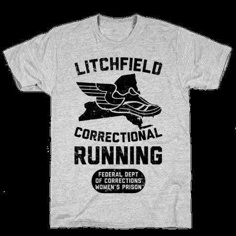 Litchfield Correctional Running Mens T-Shirt