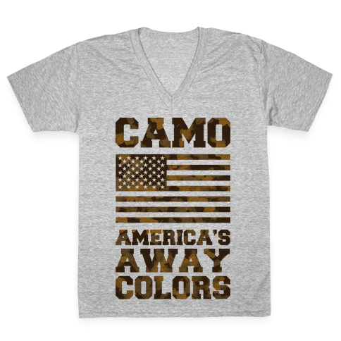 America's Away Colors V-Neck Tee Shirt