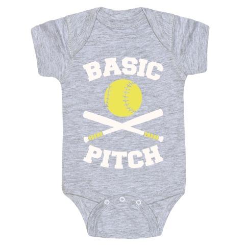 Basic Pitch Baby Onesy