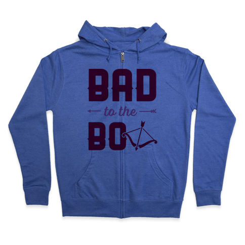 Bad To The Bow Zip Hoodie