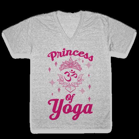 Princess Of Yoga V-Neck Tee Shirt