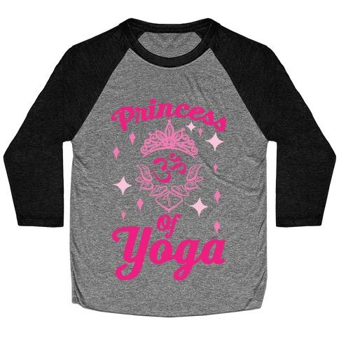 Princess Of Yoga Baseball Tee