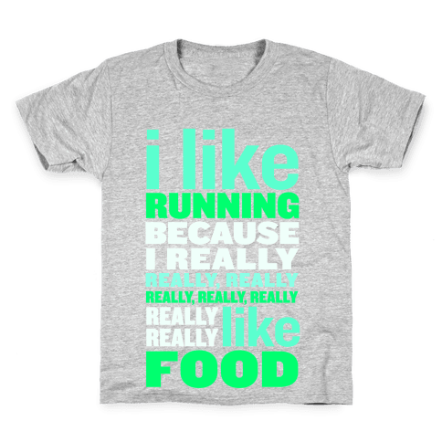 I Like Running (Food) Kids T-Shirt