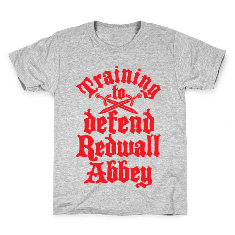 Training To Defend Redwall Abbey Kids T-Shirt