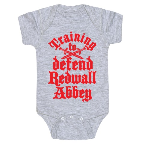Training To Defend Redwall Abbey Baby Onesy