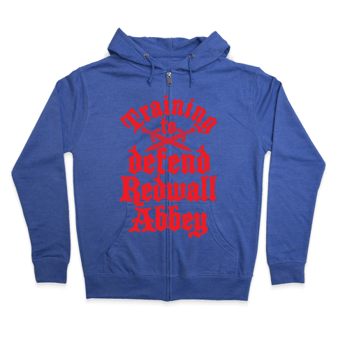 Training To Defend Redwall Abbey Zip Hoodie