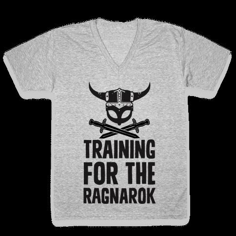 Training For The Ragnarok V-Neck Tee Shirt
