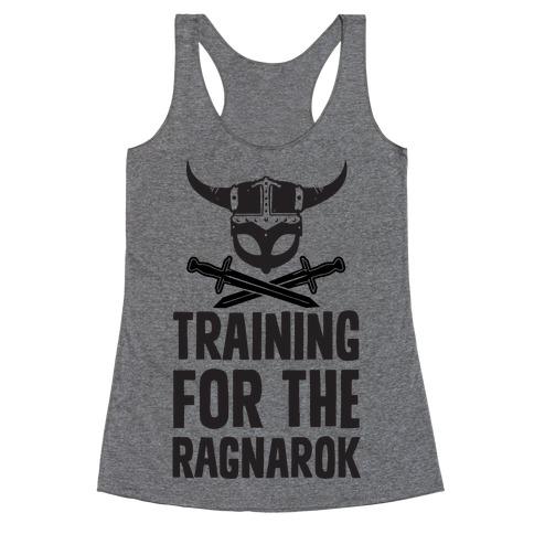 Training For The Ragnarok Racerback Tank Top
