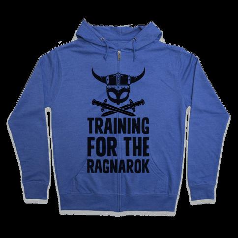 Training For The Ragnarok Zip Hoodie