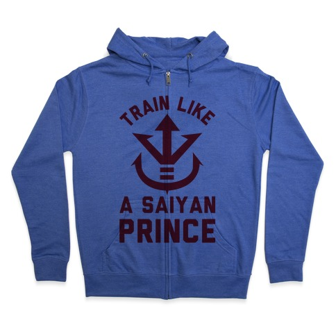 Train Like A Saiyan Prince Zip Hoodie