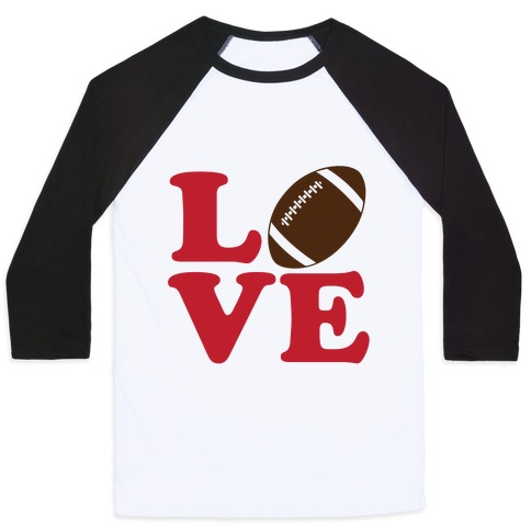 Love Football Baseball Tee