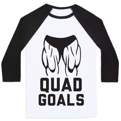 Quad Goals Baseball Tee