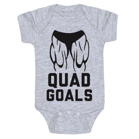 Quad Goals Baby Onesy