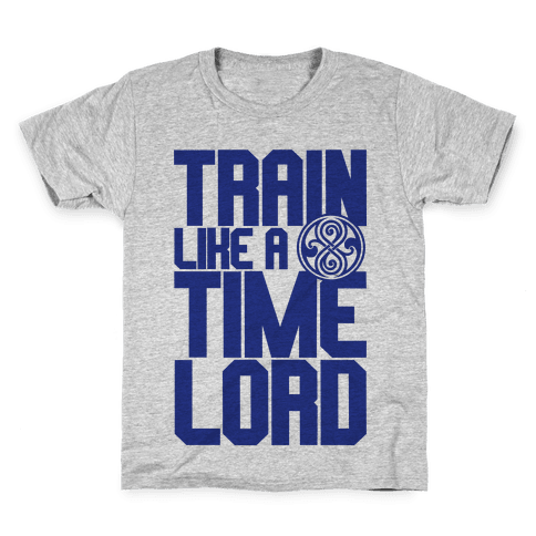Train Like A Time Lord Kids T-Shirt