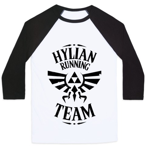 Hylian Running Team Baseball Tee