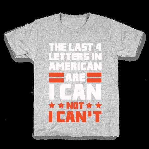 The Last 4 Letters In America (Patriotic Tank) Kids T-Shirt
