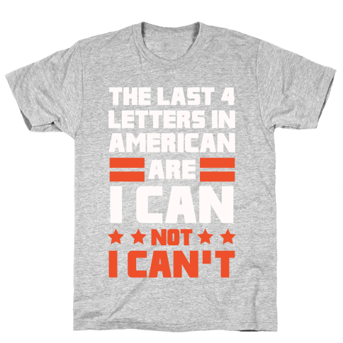 The Last 4 Letters In America (Patriotic Tank) Mens T-Shirt