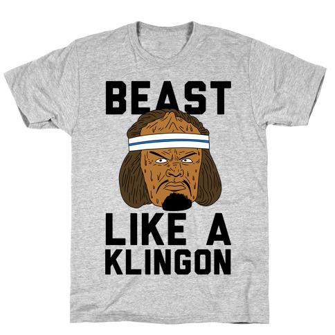 Beast Like a Klingon Mens/Unisex T-Shirt
