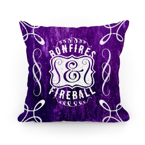 Bonfires And Fireball Pillow