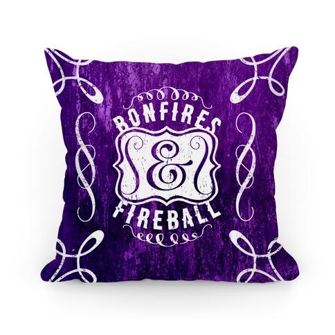 Bonfires And Fireball Pillow