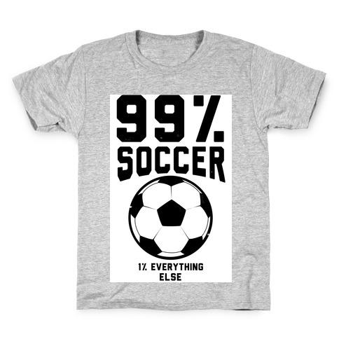 99 Percent Soccer Kids T-Shirt