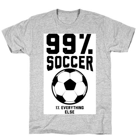 99 Percent Soccer T-Shirt