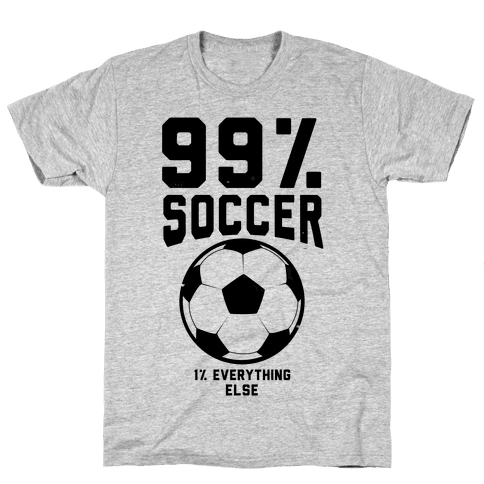 99 Percent Soccer Mens T-Shirt