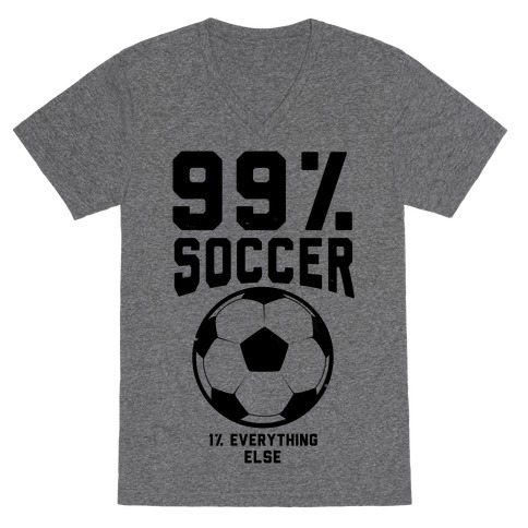 99 Percent Soccer V-Neck Tee Shirt