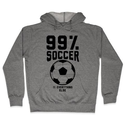 99 Percent Soccer Hooded Sweatshirt