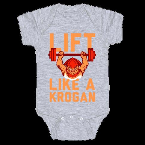 Lift Like a Krogan Baby Onesy