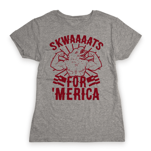 Skwaaaats For 'Merica Womens T-Shirt